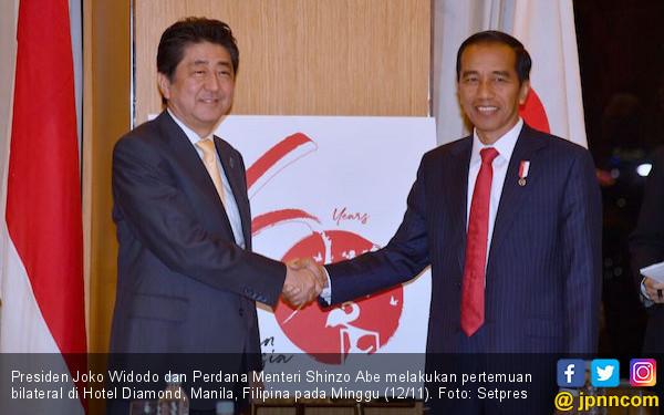 Bertemu Jokowi, PM Abe Puji Iklim Investasi Indonesia - JPNN.COM