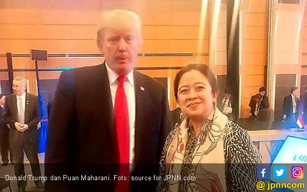 Hadiri KTT ASEAN, Mbak Puan Dialog Singkat dengan Trump - JPNN.COM
