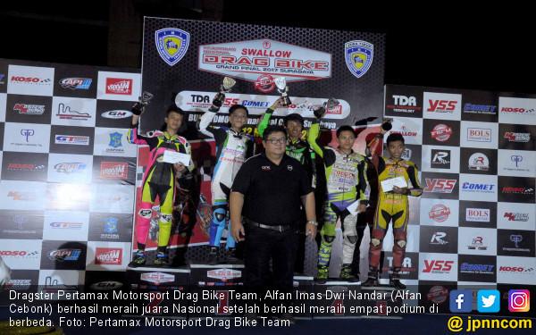 Pertamax Motorsport Drag Bike Team Raih Gelar Juara Nasional - JPNN.COM