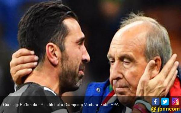 Italia Gagal Lolos Piala Dunia, Buffon Berlinang Air Mata - JPNN.COM