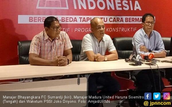 PSSI Mediasi Madura United-Bhayangkara FC, Inilah Hasilnya - JPNN.COM