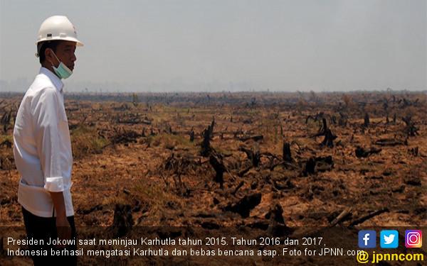 Presiden Jokowi: Alhamdulillah, Titik Panas Turun Drastis - JPNN.COM