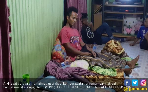 2 Buruh Bongkar Muat Tertimpa 30 Sak Pupuk - JPNN.COM