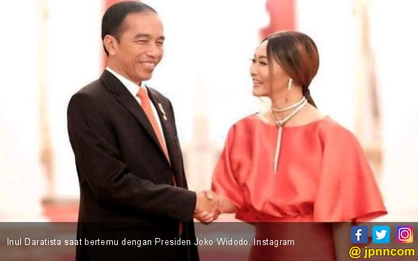 Dibilang Lebay Unggah Foto Bersama Presiden, ini Kata Inul - JPNN.COM