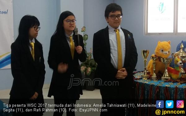 Masih Belia, 3 Siswa Indonesia Raih 11 Medali Level Dunia - JPNN.COM