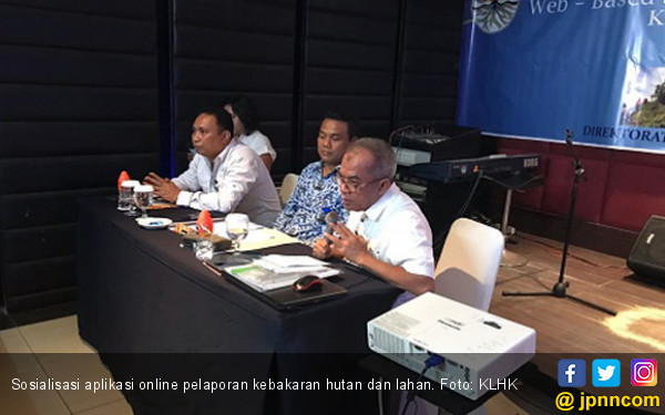 KLHK Sosialisasi Aplikasi Online Pelaporan Karhutla - JPNN.com