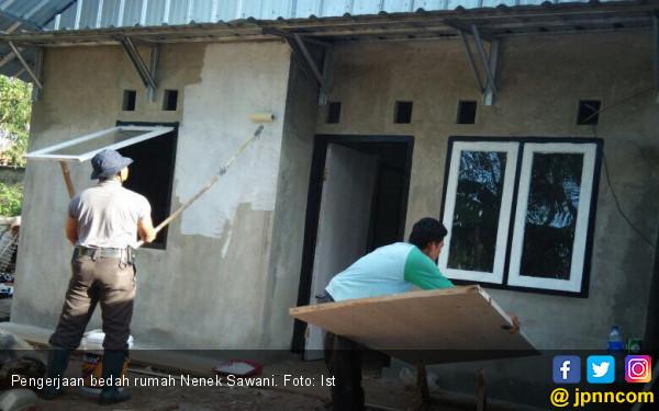 Rumah Dibedah Bintara Polisi, Nenek Sawani Kaget Tak Percaya - JPNN.COM