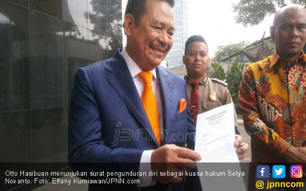 Belum 1 Bulan, Bang Otto Hasibuan Tinggalkan Setya Novanto - JPNN.COM