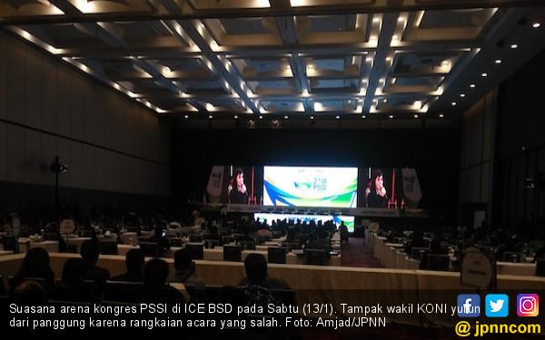 Voter Kongres PSSI Berang Minta KONI Nyanyi Indonesia Raya - JPNN.COM