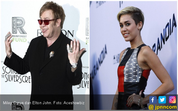 Kolaborasi Miley Cyrus-Elton John Bakal Ramaikan Grammy 2018 - JPNN.COM
