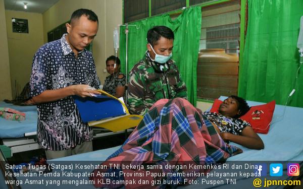 Satgas Kesehatan TNI Melayani 2.027 Warga Asmat Korban KLB - JPNN.com