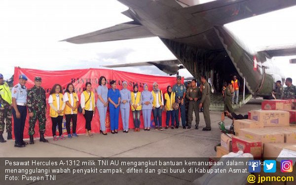 Pesawat TNI AU Angkut Bantuan Kemanusiaan untuk Warga Asmat - JPNN.com