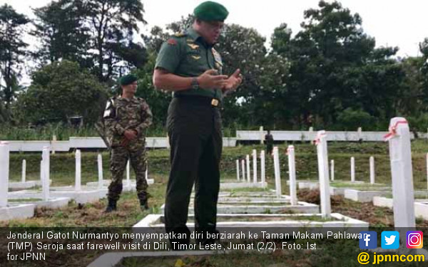 Kunjungi TMP di Dili, Gatot Ajak Kaum Muda Teladani Pahlawan - JPNN.COM