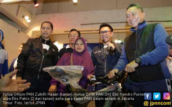 Senam Bersama PAN di Jaktim Meriah, Zulhasan Beri Pujian - JPNN.COM