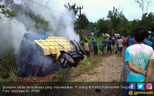 Kecelakaan Maut di Kotim, 11 Nyawa Melayang - JPNN.COM