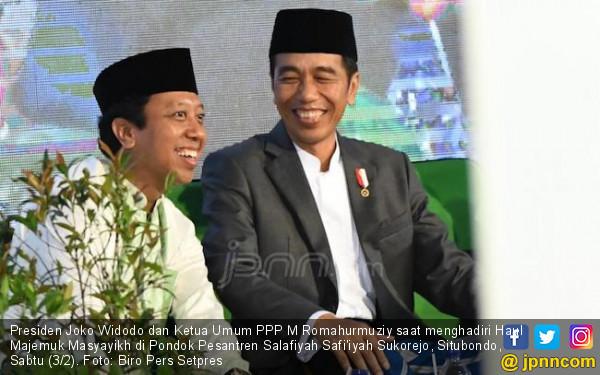 Di Acara PPP, Jokowi Kembali Sebut Romy Cocok Jadi Cawapres - JPNN.COM