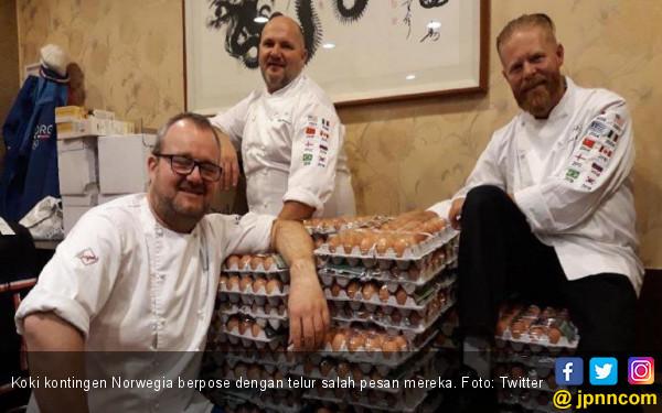 Wow! Tim Olimpiade Norwegia Pesan 15 Ribu Telur, Ternyata... - JPNN.COM