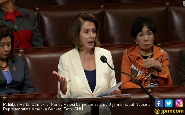 Salut! Anggota DPR AS Pidato 8 Jam demi Membela Imigran - JPNN.COM