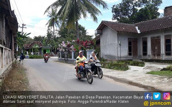 Ibu Penyeret Balita Pakai Motor Jalani Observasi Kejiwaan - JPNN.COM