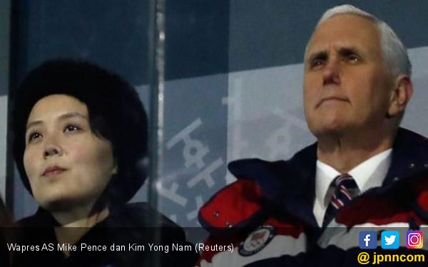 Canggungnya Wapres AS saat Bertemu Adik Kim Jong-un - JPNN.COM