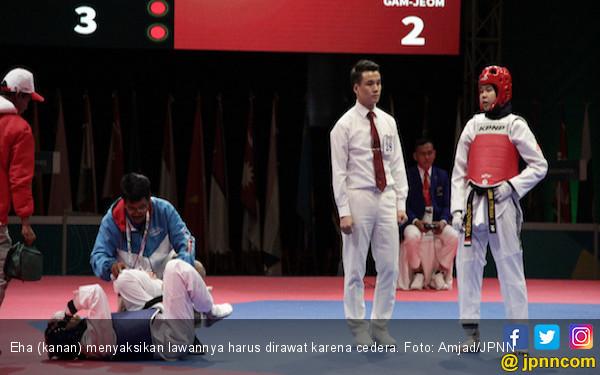 Eha Sumbang Satu-Satunya Medali Emas dari Cabor Taekwondo - JPNN.COM