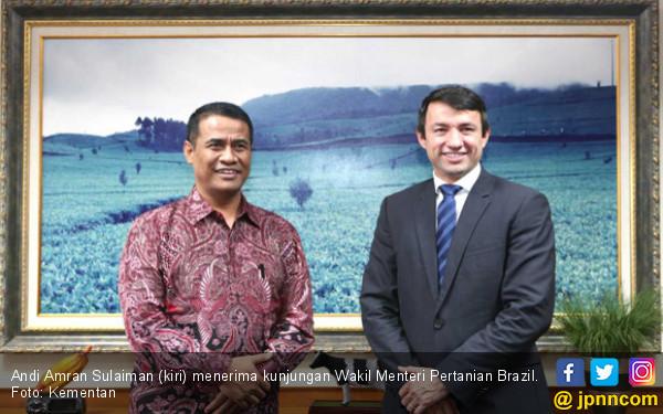 Mentan Amran Terima Kunjungan Wakil Menteri Pertanian Brazil - JPNN.COM