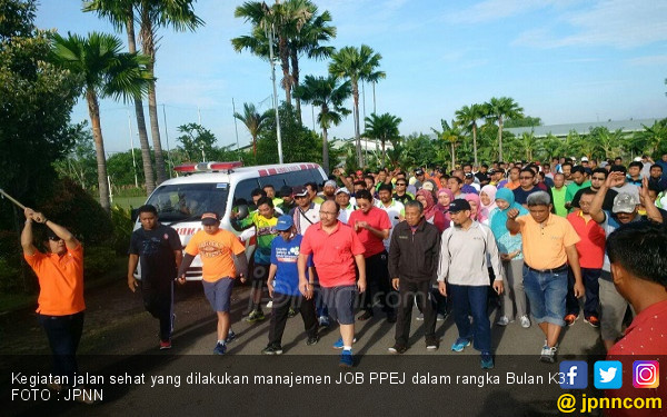Jalan Sehat Tutup Peringatan Bulan K3 - JPNN.COM