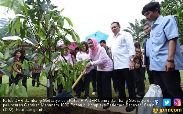 Dukung Program Jokowi, Istri Bamsoet Pimpin Gerakan Menanam - JPNN.COM