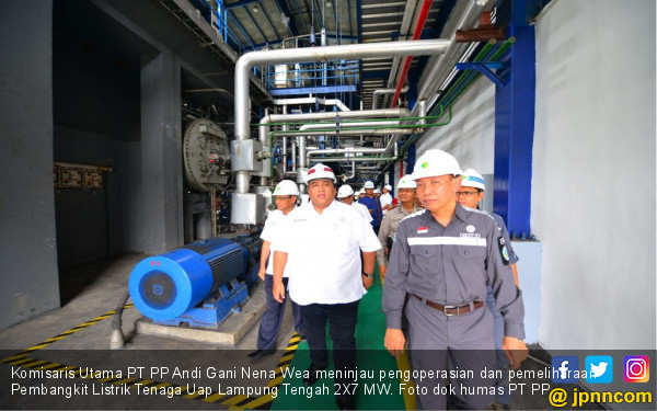 PT PP Tinjau Pengoperasian PLTU Lampung Tengah - JPNN.COM