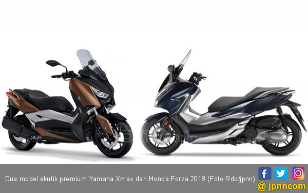 Mengulas Spesifikasi Yamaha Xmax dan Honda Forza 2018 - JPNN.com