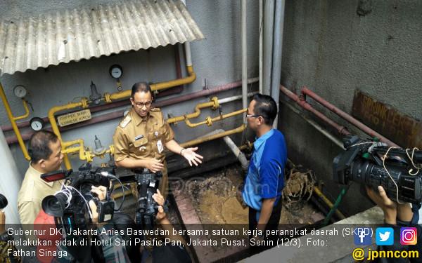 Anies Sebut Hotel Mewah Ini Bikin Banjir, Maling Air Pula - JPNN.COM