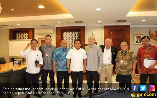 Sowan Ke Moeldoko, Tinton Tagih Janji MotoGP Indonesia - JPNN.com