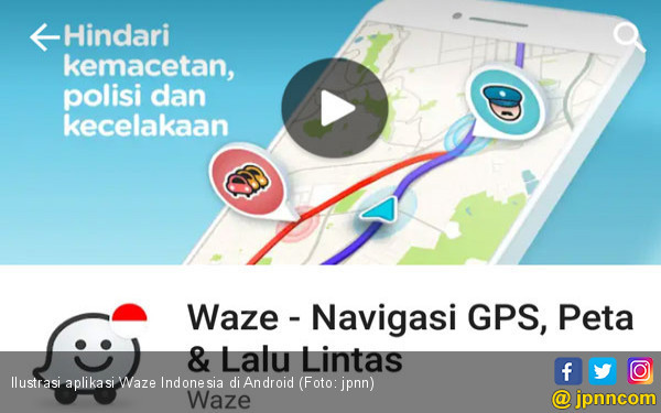 Versi Beta Waze Pasang Layanan Streaming - JPNN.COM