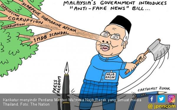 Najib Razak Ditampar Kartunis Thailand Keras Banget