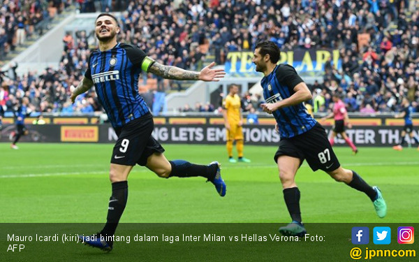 Icardi On Fire, Inter Milan Hajar Hellas Verona 3-0 - JPNN.COM