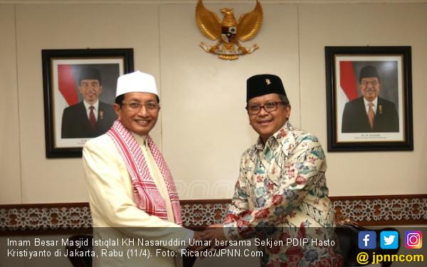 Hasto Bawa Pesan Penting Bu Mega untuk Imam Besar Istiqlal - JPNN.com