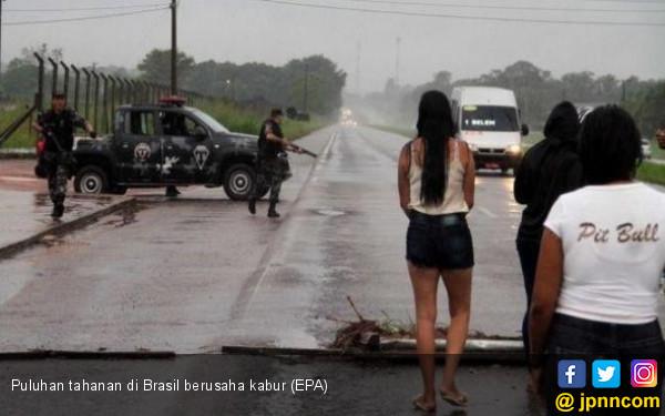 20 Napi Tewas Saat Berusaha Kabur dari Penjara Brasil - JPNN.COM