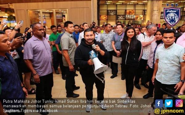 Putra Mahkota Traktir Pengunjung Mall, Rp 10 Juta Per Orang - JPNN.COM