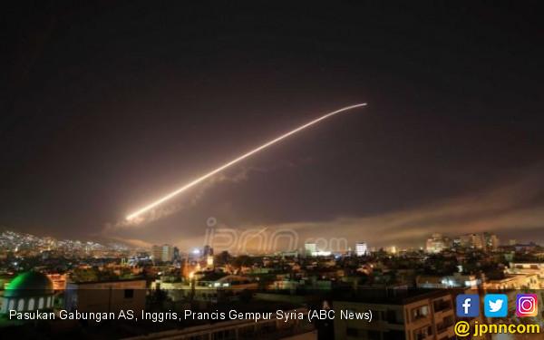 Amerika Serikat, Inggris dan Prancis Bombardir Syria - JPNN.com