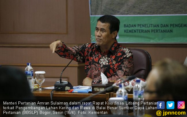 Mentan Siapkan Roadmap 20 Juta Hektare Lahan Kering dan Rawa - JPNN.COM