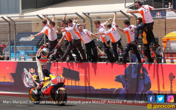 Detik - Detik Kesempurnaan Marc Marquez di MotoGP Amerika - JPNN.com