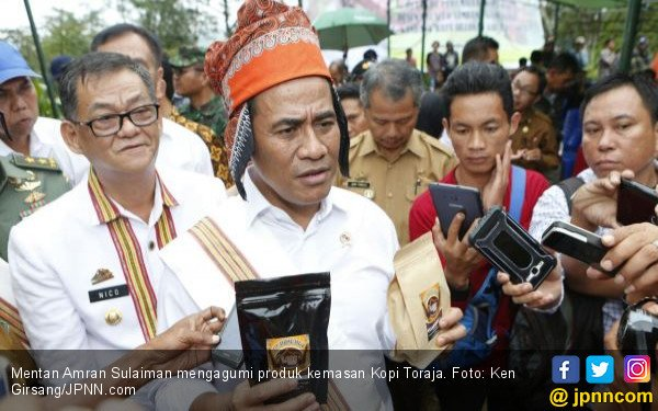 Pujian Menteri Amran untuk Kopi Jantan Khas Toraja - JPNN.COM