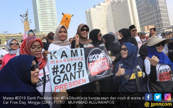 #2019GantiPresiden Sukses Menggoyang Jokowi, Ini Buktinya - JPNN.COM