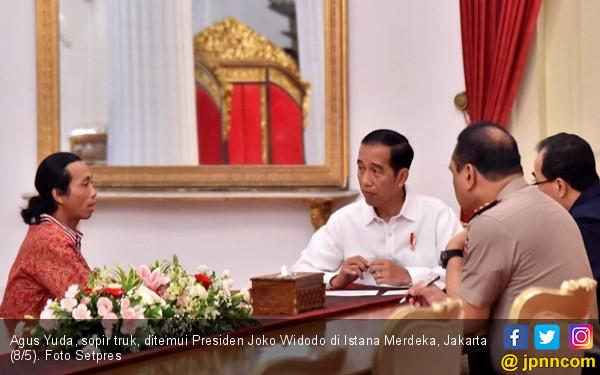 Kisah Agus, Sopir Truk yang Akhirnya Bertemu Presiden Jokowi - JPNN.COM