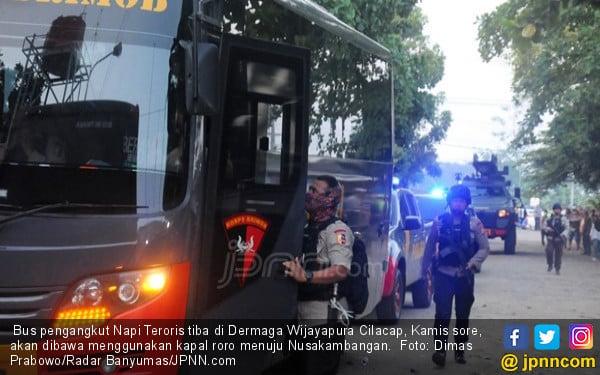 145 Napi Ditempatkan di 2 Lapas Nusakambangan, Dijaga Ketat - JPNN.com
