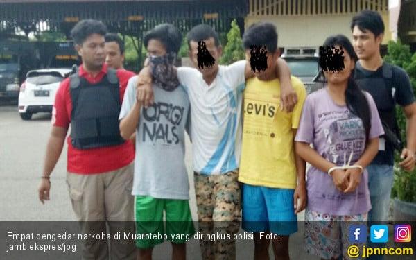 Polisi Ringkus Empat Pengendar Narkoba, Satu Dilumpuhkan - JPNN.COM
