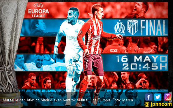 Final Liga Europa: Data - Fakta Marseille vs Atletico Madrid - JPNN.COM