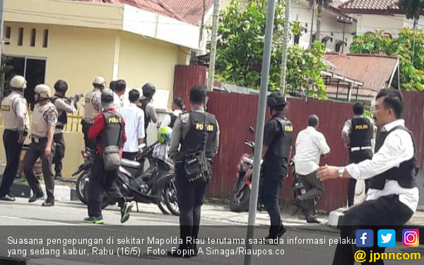 8 Orang Ditangkap terkait Penyerangan Polda Riau - JPNN.COM