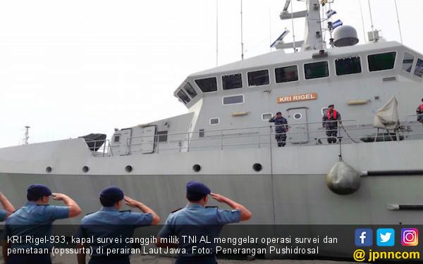 KRI Rigel Gelar Survei dan Pemetaan di Perairan Laut Jawa - JPNN.COM