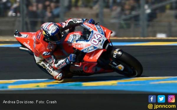 FP2 MotoGP Prancis: Dovizioso Kalahkan Marquez dan Rossi - JPNN.COM